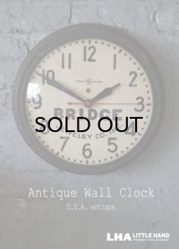 U.S.A. antique GENERAL ELECTRIC wall clock GE アメリカアンティーク ゼネラル エレクトリック 掛け時計 初期型 ショップロゴ入り ヴィンテージ スクール クロック 37cm 1940's