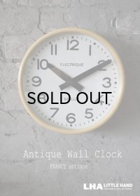 FRANCE antique BRILLIE wall clock フランスアンティーク 掛け時計 ヴィンテージ クロック 26cm 1940-50's