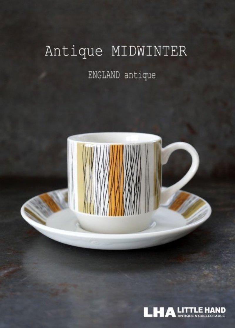 画像1: ENGLAND antique Mid Winter 【Sienna】イギリスアンティーク ミッドウィンター シエナ カップ&ソーサー C&S 1970-80's ヴィンテージ コーヒーカップ