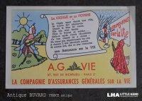 FRANCE antique フランスアンティーク BUVARD ビュバー A.G.VIE ヴィンテージ 1950-70's
