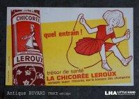 FRANCE antique フランスアンティーク BUVARD ビュバー LA CHICOREE LEROUX ヴィンテージ 1950-70's