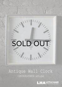 CZECHOSLOVAKIA antique PRAGOTRON wall clock チェコスロバキアアンティーク パラゴトロン社 掛け時計 クロック 33.5cm 1990's