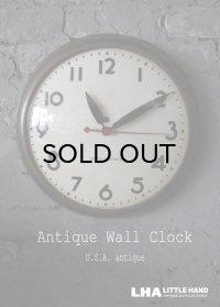 U.S.A. antique SETH THOMAS wall clock GE アメリカアンティーク 掛け時計 スクール ヴィンテージ クロック 38cm 1940's
