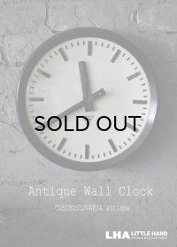 CZECHOSLOVAKIA antique PRAGOTRON wall clock チェコスロバキアアンティーク パラゴトロン社 掛け時計 クロック 32cm 1970's