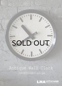 CZECHOSLOVAKIA antique PRAGOTRON wall clock チェコスロバキアアンティーク パラゴトロン社 掛け時計 ヴィンテージ クロック 32cm 1970's