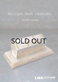 ENGLAND antique イギリスアンティーク 万年 デスクカレンダー 1960-70's 卓上 メカニカル ヴィンテージ カレンダー 暦