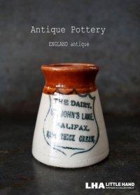【RARE】ENGLAND antique イギリスアンティーク ツートンカラー THE DAIRY HALIFAX (Sサイズ)陶器ポット 1900's