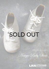 ENGLAND antique イギリスアンティーク ベビーシューズ チャイルドシューズ 子供靴 1930-50's