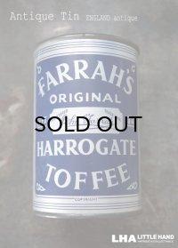 ENGLAND antique イギリスアンティーク FARRAH'S HARROGATE TOFFEE ティン缶 お菓子缶 ブリキ缶 ヴィンテージ 缶 1950-60's