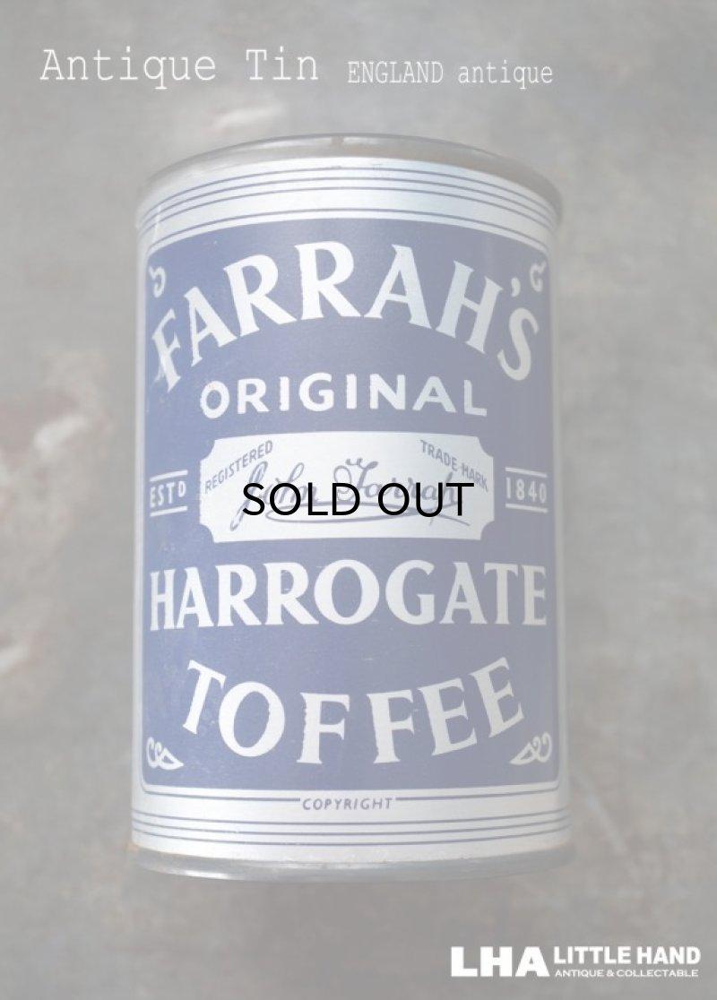 画像1: ENGLAND antique イギリスアンティーク FARRAH'S HARROGATE TOFFEE ティン缶 お菓子缶 ブリキ缶 ヴィンテージ 缶 1950-60's