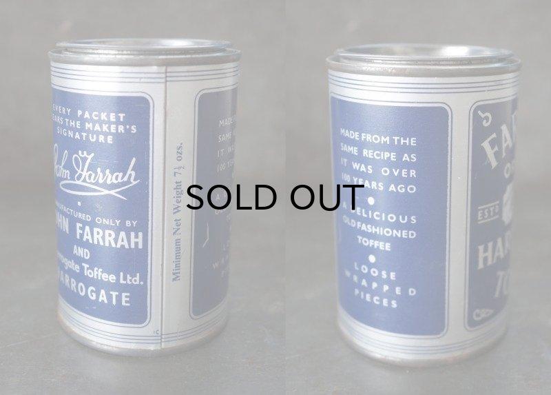 画像3: ENGLAND antique イギリスアンティーク FARRAH'S HARROGATE TOFFEE ティン缶 お菓子缶 ブリキ缶 ヴィンテージ 缶 1950-60's