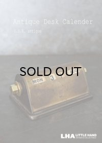 USA antique アメリカアンティーク PARK SHERMAN パークシャーマン デスクカレンダー 1940-60's 万年 ヴィンテージ カレンダー 暦