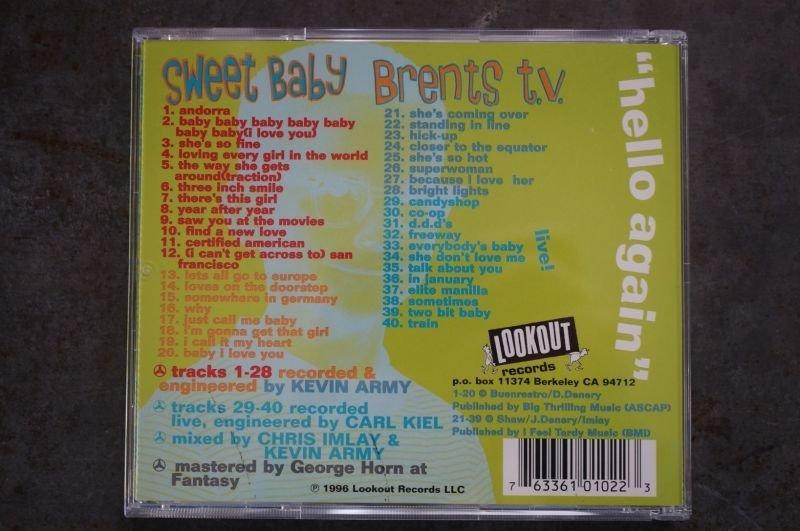 画像2: SWEET BABY / BRENETS T.V.  / Hello Again Split  CD (USED)