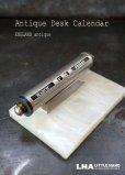 画像1: ENGLAND antique イギリスアンティーク 万年 デスクカレンダー 1950-60's 卓上 メカニカルカレンダー 暦  (1)
