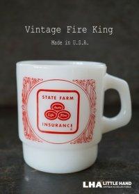 U.S.A. vintage アメリカヴィンテージ 【Fire-king】 ファイヤーキング ステートファーム マグ マグカップ ヴィンテージ 1960-76's