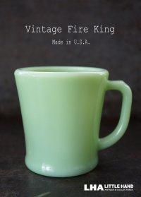 U.S.A. vintage 【Fire-king】 ファイヤーキングジェダイ シェービング ブロックレター 初期刻印 Dハンドルマグ ヴィンテージ 1940's