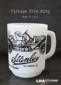 U.S.A. vintage アメリカヴィンテージ 【Fire-king】ファイヤーキングStanley スタンレー  マグ マグカップ 1970-86's