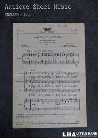ENGLAND antique Sheet Music イギリスアンティーク 楽譜 譜面 ヴィンテージ 1930-60's
