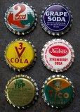画像2: USA antique アメリカアンティーク SODA ボトルキャップ マグネット 6個SET ヴィンテージ 1950-70's (2)