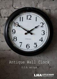 U.S.A. antique INTERNATIONAL wall clock アンティーク 掛け時計 ヴィンテージ スクールクロック 40.4cm インダストリアル 1934's