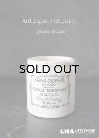 【RARE】 ENGLAND antique イギリスアンティーク FRANK COOPER'S ミニ フランククーパー H6.7cm 陶器ポット 1900-30's