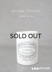 【RARE】 ENGRAND antique イギリスアンティーク 【H73mm】ミニ DUNDEE マーマレードジャー 陶器ポット 1900's