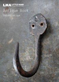 ENGLAND antique イギリスアンティーク アイアン フック コートフック 鉄 1900-20's