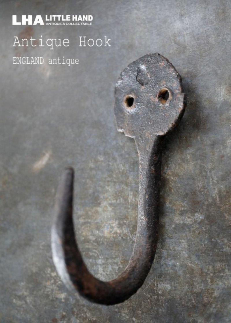 画像1: ENGLAND antique イギリスアンティーク アイアン フック コートフック 鉄 1900-20's