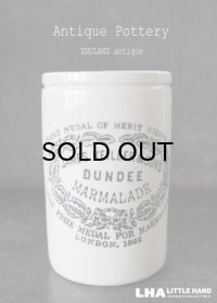 ENGLAND antique イギリスアンティーク DUNDEE ダンディ マーマレードジャー トール型 H11.6cm 陶器ポット 1900's