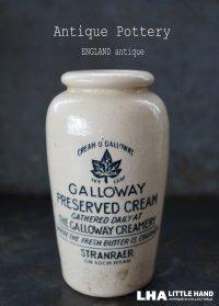 ENGLAND antique イギリスアンティーク GALLOWAY クリームポット 陶器ポット(L)H12.3cm 陶器ボトル1900's