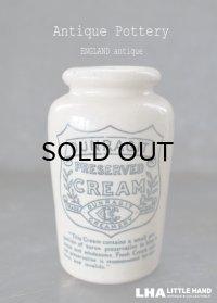 ENGLAND antique イギリスアンティーク DUNRAGIT PURE CREAM クリーム 陶器ポット 陶器ボトル 1900's