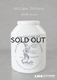 【RARE】ENGLAND antique イギリスアンティーク HALL'S ヘクトグラフ 陶器ポット インクボトル 陶器ボトル 1900's