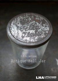 USA antique アメリカアンティーク BALL JELLY GLASS ジェリーグラス ガラスジャー 1930-60's