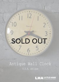 U.S.A. antique SIMPLEX シンプレックス社製 wall clock アンティーク 掛け時計 ヴィンテージ スクール クロック 36cm インダストリアル 1960's