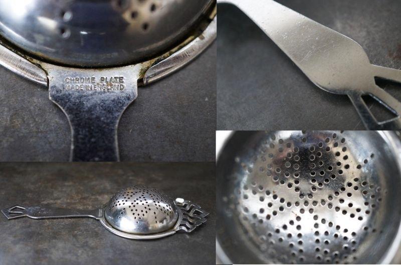 画像3: ENGLAND antique イギリスアンティーク ティーストレイナー ティーストレーナー 茶こし ヴィンテージ 1940-80's