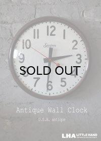 U.S.A. antique SESSIONS wall clock アメリカアンティーク  掛け時計 スクールクロック ヴィンテージ クロック 35cm 19550-60's インダストリアル 工業系