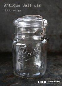 USA antique アメリカアンティーク BALL ジャー ワイヤー付き ガラスジャー (S) ヴィンテージ メイソンジャー 保存瓶 1933-60's