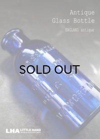 ENGLAND antique イギリスアンティーク 鮮やかな コバルトブルー ガラスボトル ガラス瓶 1905-15's
