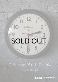 U.S.A. antique Telechron wall clock アメリカアンティーク テレクロン 掛け時計 ヴィンテージ スクール クロック 37cm 1940's