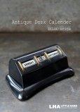 画像1: ENGLAND antique イギリスアンティーク 万年 ベークライト デスクカレンダー 1950-60's 卓上 メカニカル ヴィンテージ カレンダー 暦 (1)
