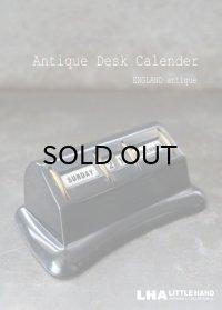 ENGLAND antique イギリスアンティーク 万年 ベークライト デスクカレンダー 1950-60's 卓上 メカニカル ヴィンテージ カレンダー 暦