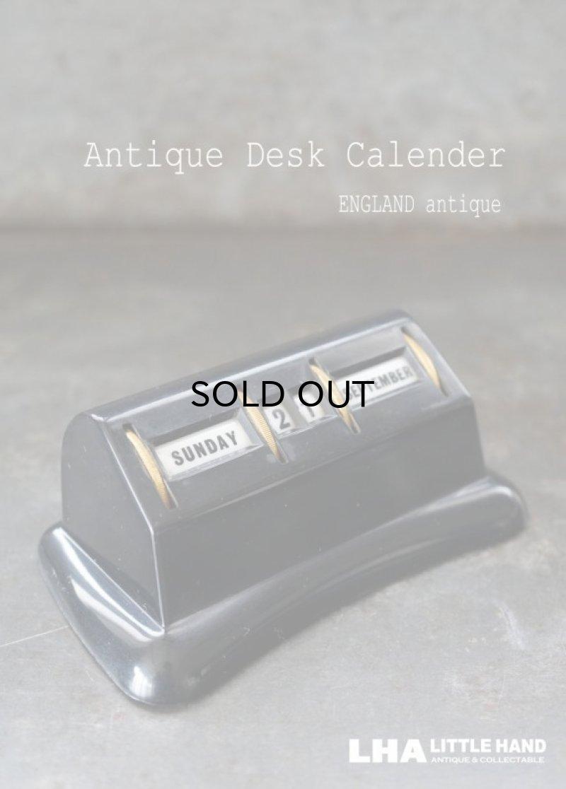 画像1: ENGLAND antique イギリスアンティーク 万年 ベークライト デスクカレンダー 1950-60's 卓上 メカニカル ヴィンテージ カレンダー 暦
