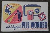 FRANCE antique フランスアンティーク ヴィンテージ BUVARD ビュバー PILE WONDER 1950-70's
