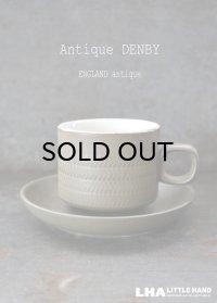 ENGLAND antique イギリスアンティーク DENBY 【Chevron】 デンビー カップ&ソーサー ヴィンテージ カップ 1960-70's