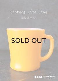 U.S.A.vintage【Fire-king】 ファイヤーキング Dハンドルマグ 山吹 オレンジ 1960's