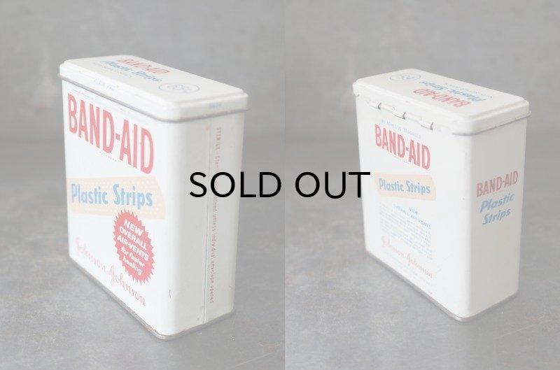 画像2: USA antique アメリカアンティーク ジョンソン&ジョンソン BAND-AID バンドエイド缶 ヴィンテージ ブリキ缶 缶 1950-60's