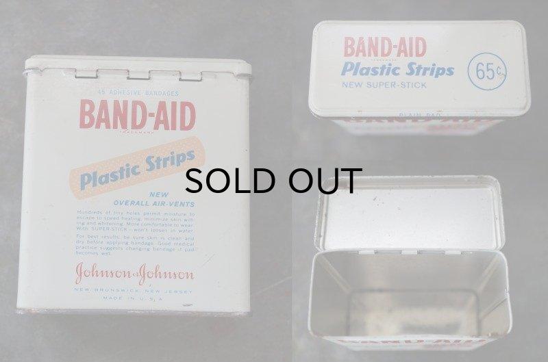 画像3: USA antique アメリカアンティーク ジョンソン&ジョンソン BAND-AID バンドエイド缶 ヴィンテージ ブリキ缶 缶 1950-60's