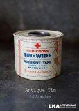 画像1: USA antique アメリカアンティーク ジョンソン&ジョンソン 缶 ヴィンテージ ブリキ缶 缶 1930-40's  (1)