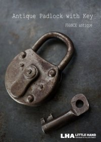 FRANCE antique フランスアンティーク パドロック 鍵付 ヴィンテージ 南京錠 1930-60's