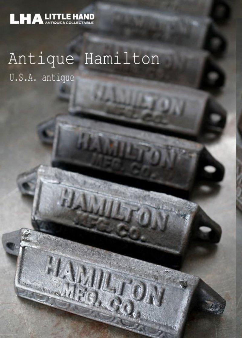 画像1: USA antique アメリカアンティーク HAMILTON ハミルトン プリンタートレイ ハンドル アイアン 取っ手 1900-30's